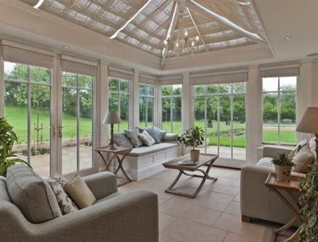 A perfect place to relax. This conservatory has full length panels to the end elevation which allows full appreciation of the garden.