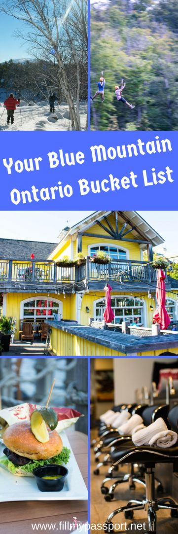 Blue Mountain is the perfect getaway in Ontario Canada for all seasons. If you are ski buff, hiker, or into paddle boating after enjoying a meal on the patio, Blue Mountain Village is perfect for you.