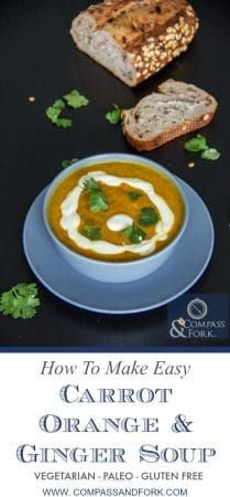 This Moroccan soup is easy to make and contains everyday ingredients. Beautifully spiced #vegetarian #easyrecipe #paleo #glutenfree #soup #souprecipe How to Make Easy Carrot, Orange and Ginger Soup https://www.compassandfork.com/recipe/easy-carrot-orange-and-ginger-soup/?utm_campaign=coschedule&utm_source=pinterest&utm_medium=Compass%20and%20Fork-%20Food%20and%20Travel&utm_content=How%20to%20Make%20Easy%20Carrot%2C%20Orange%20and%20Ginger%20Soup