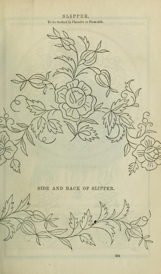 old embroidery pattern