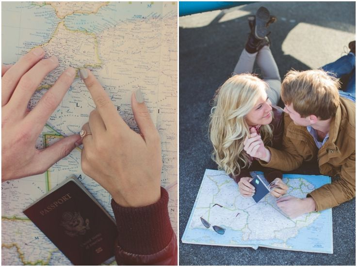 Travel Themed Engagement Shoot: Love Is An Adventure! | Bridal Musings: @Sarah Laird