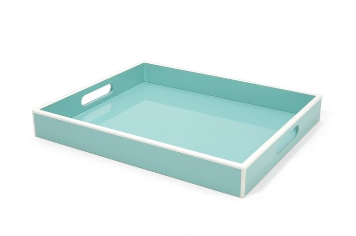 We could put the coral/white/turquoise mason jars on this tray with a floral piece and something decorative like seashells...