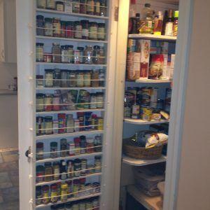Narrow Pantry Door Storage