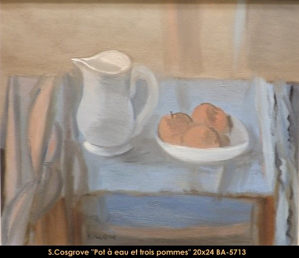 Original oil painting on canvas by Stanley Cosgrove #cosgrove #artist #art #oilpainting #originalpainting #fineart #canadianartist #quebecartist #stilllife #balcondart #multiartltee