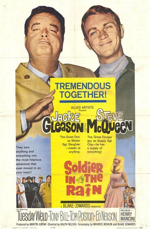 Soldier in the Rain (1963) gotta love steve but gotta LOVE jackie #gleason too
