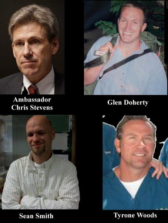Let's not forget the Victims of Benghazi     *Ambassador Chris Stevens   *Glen Doherty    *Sean Smith     *Tyrone Woods