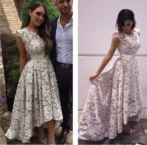Bohemian Hippie Cheap Bridesmaid Dresses 2017 Sexy Backless Lace Maid Of Honor Gowns Formal Wedding Guest Dress Hi-Lo robe de mariage