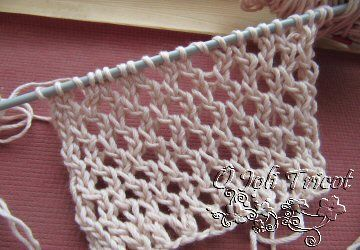 Point - Point fantaisie au tricot ...