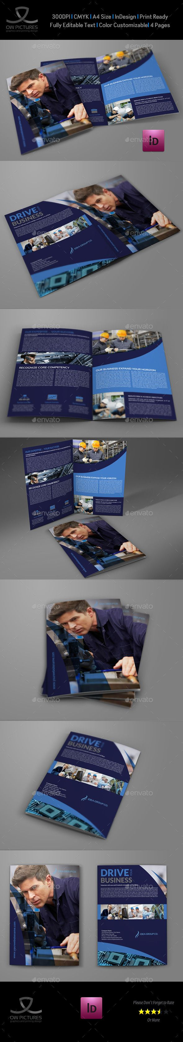 Bi-Fold Brochure Description : Industrial Company Brochure Bi-Fold Template that is super simple to edit and customize with yo