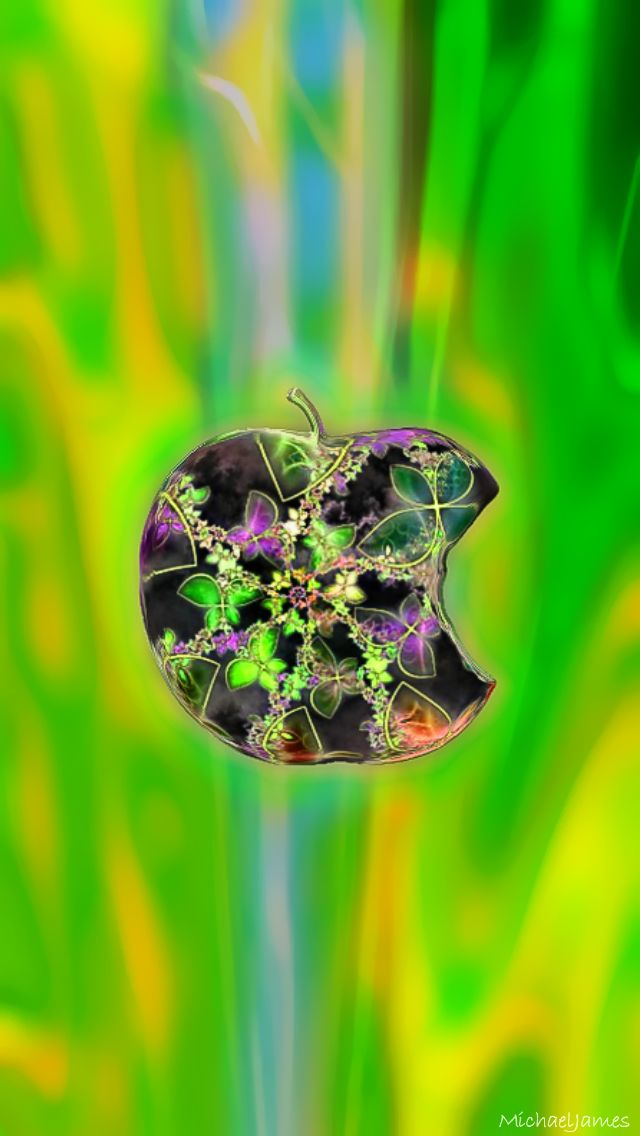 Jeweled Green Apple 640 x 1136 Wallpapers available for ...