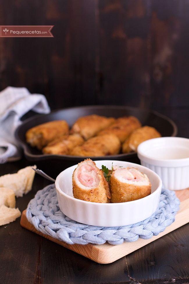 Rollos de lomo con jamón cocido y queso