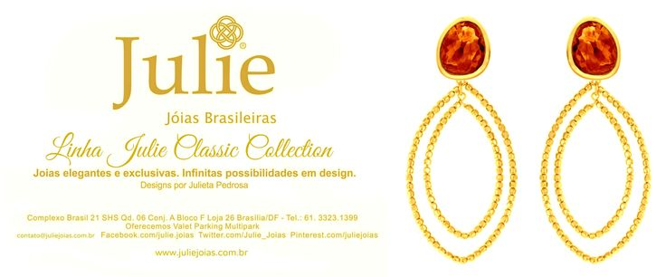 Brincos em ouro 750/18k e citrino golden (750/18k gold dangling earrings with golden citrine)