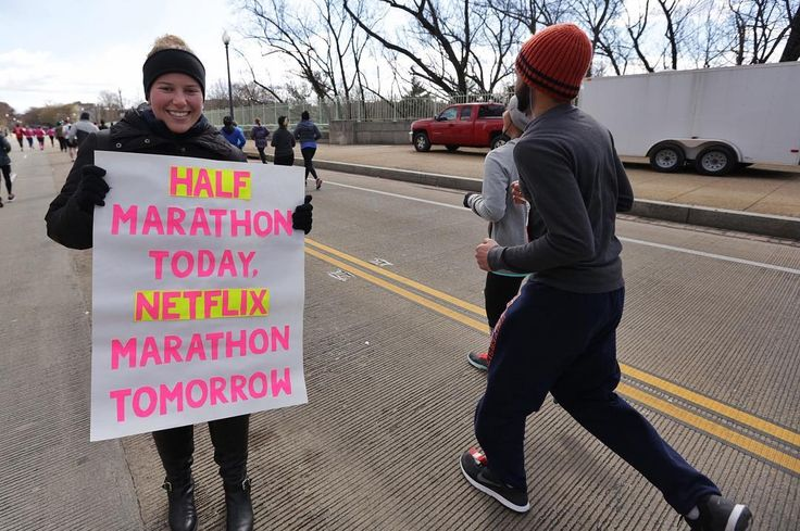 Half Marathon today. Netflix marathon tomorrow.