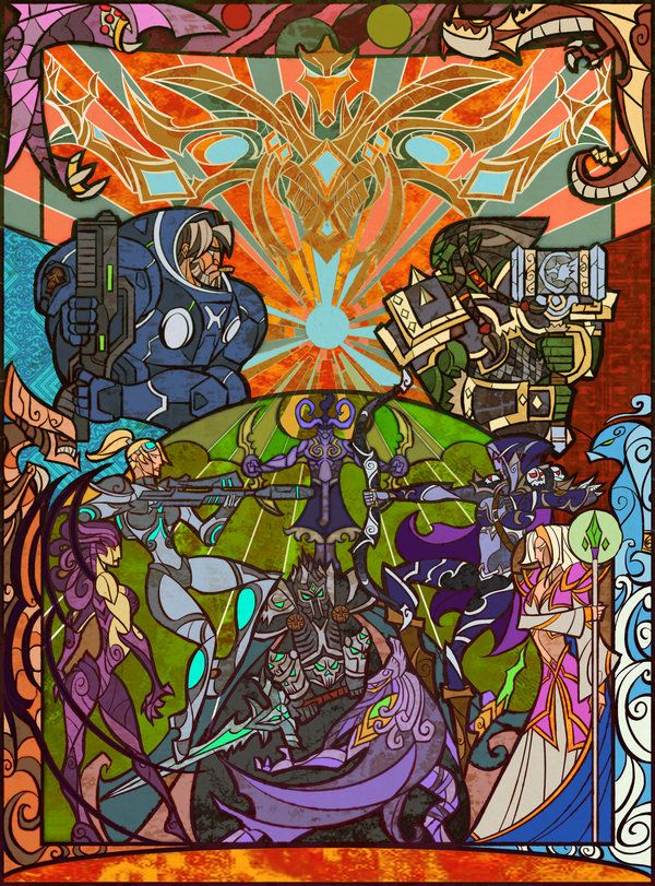 chaos of blizzard heroes by *breathing2004 on deviantART.... i love this persons work they are just amazing!!!