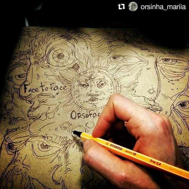 #Repost @orsinha_mariia with @repostapp ・・・ Пока город просыпается, мафия уже ждет на гараж сейле...и не просто ждет, а развлекается под хорошую музыку с хорошей крафтовый бумагой 😎 #orsoface #orsinhaface #sketch #kraft #pendraw #doodles #doodle #doodling #byhand #forsale #experiment #draw #drawing #inprogress #inprocess #рисунок #скетч
