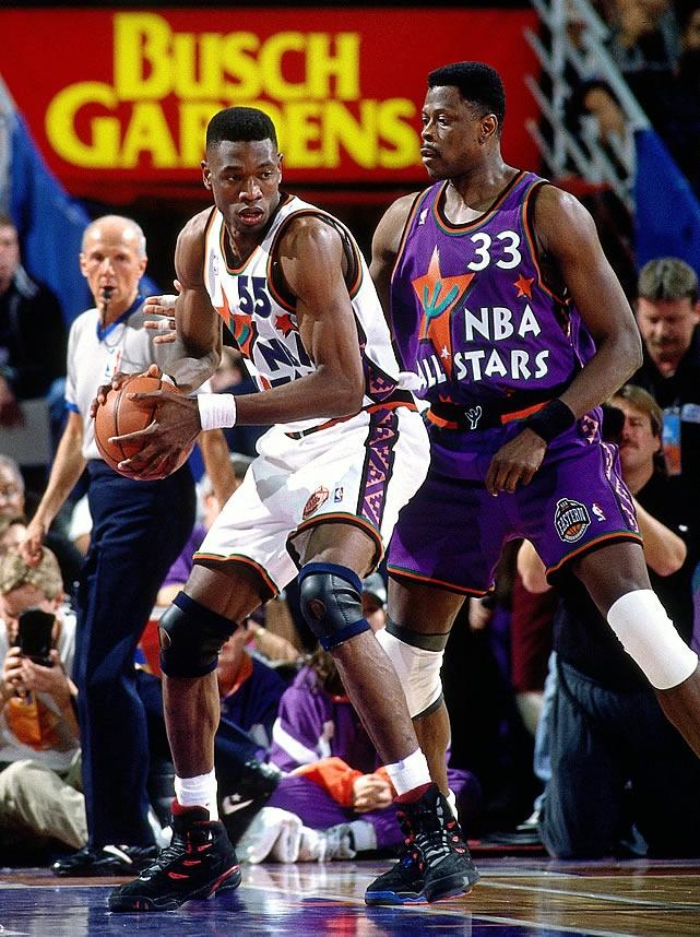 38afee628f68 NBA 55 Mutombo 1995 all star game white Jerseys