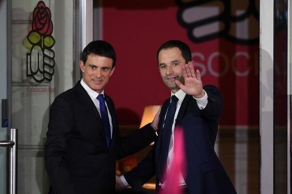 Benoît Hamon sera le candidat du Parti socialiste à l'élection présidentielle après sa victoire (58,65%) face à Manuel Valls (41,35 %), selon les premiers chiffres divulgués dimanche.