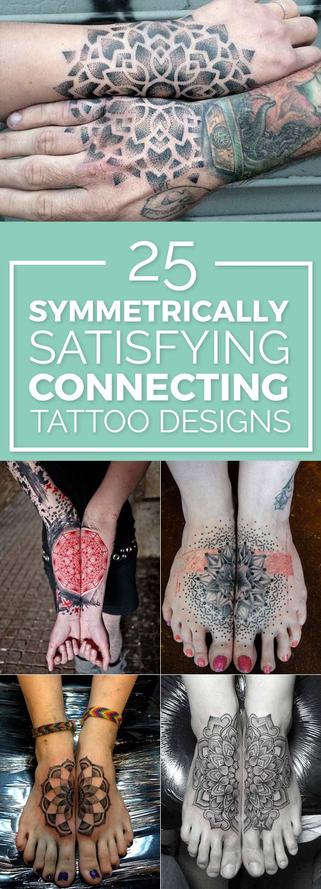 Symmetrically Connecting Tattoo Designs you NEED to see