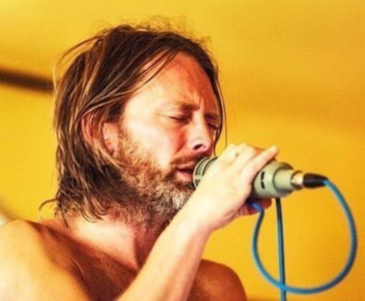 Thom Yorke during the recording of Amok - #Radiohead