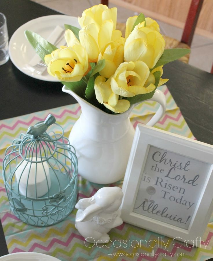 love the flowers Free Easter Printable + A Honeybaked Easter Dinner