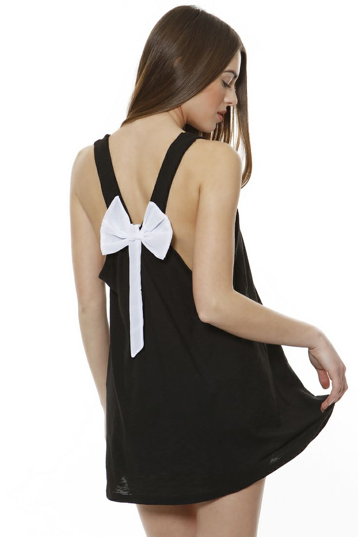 Open back bow top
