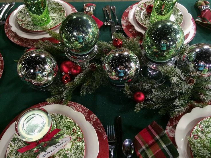 Set of 3 Mercury Glass Spheres with Stakes (two sets pictured) make a beautiful centerpiece.  H202225 http://qvc.co/-Shop-ValerieParrHill