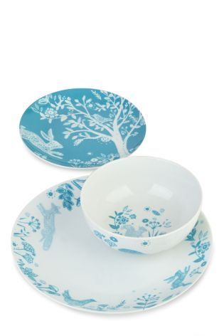 Buy 12 Piece Folkloric Dinner Set online today at Next: Israel
