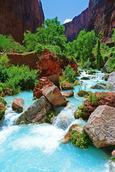 Turquoise Stream, Havasupai Indian Reservation, Grand Canyon, Arizona