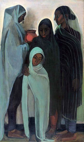 Painting: 'Hill Women' by Amrita Sher-Gill
