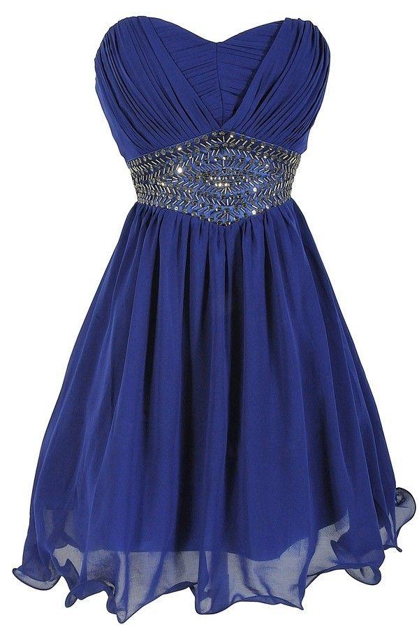 Sweetheart, royal bule, Bridesmaid Dress, Homecoming Dresses for Juniors, Short…