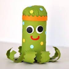 Nádherná chobotnice z ruliček od toaletního papíru