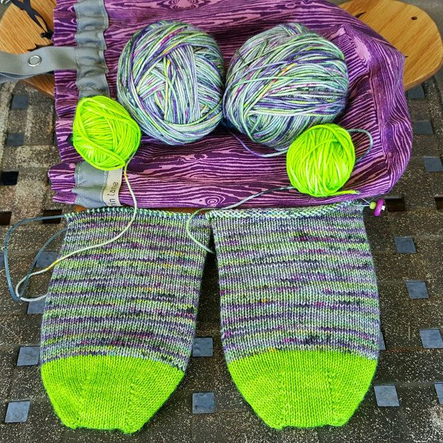 More amazing yarn from Knitmona!  Colorway is Walk This Way! http://etsy.me/1PEocFb #etsystar