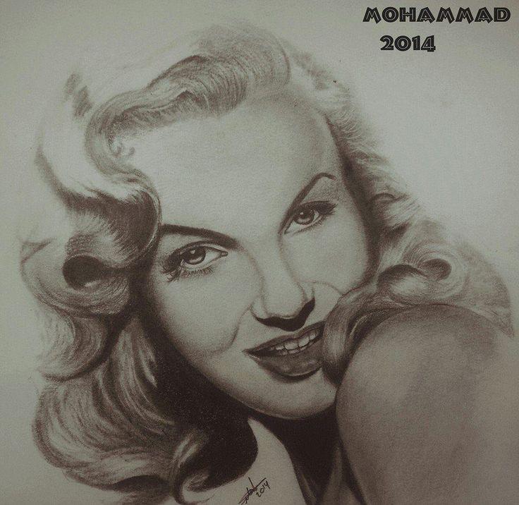 رسم مارلين مونرو Drawings Female Sketch Art