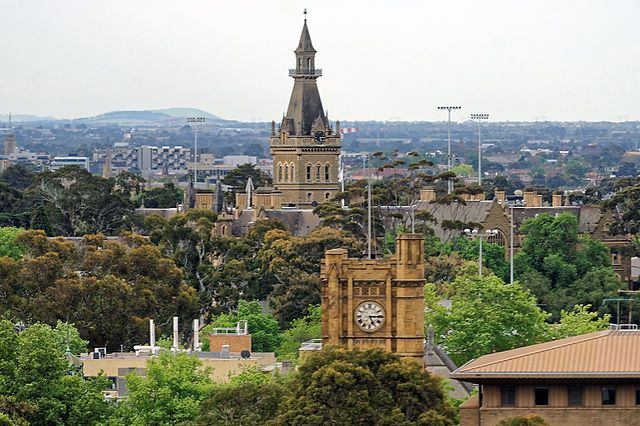 Old Arts Building, Melbourne University, with Ormond College in the background- Wikipedia, the free encyclopedia