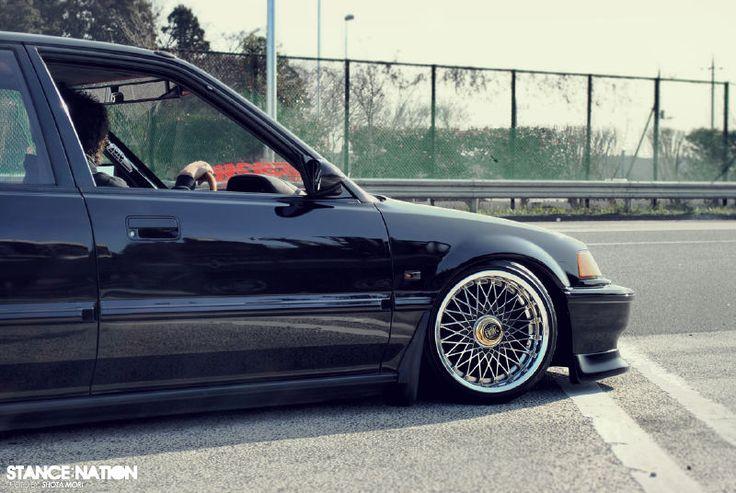 *More Civic love. EF Sedan street sweepin'! | *stance. | Pinterest | Honda, Sedans and The o'jays