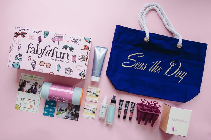 This is what dreams are made of!! Absolutely love my @fabfitfun summer box! They just keep getting better and better. A Trina Turk beach tote, a yoga towel, lip gloss, beach waves hair spray, @betches popsicle molds, a huge exfoliating cleanser, burt's bees BB cream and so much more!! Use code AFFILIATE10 at www.fabfitfun.com for $10 off. #youwilllove #fabfitfun #fffpartner
