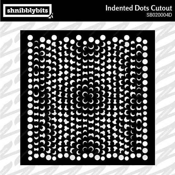 Indented Dots Cutout
