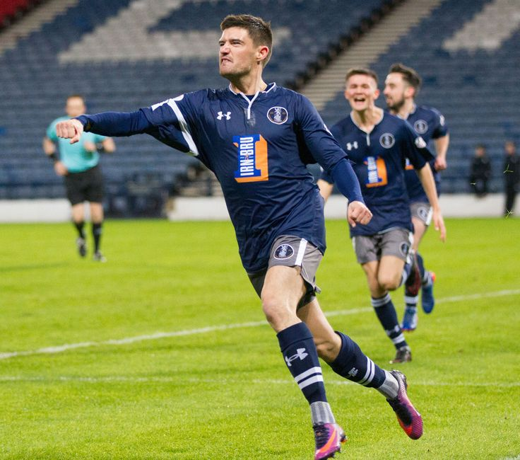 Queen's Park's Paul Woods celebrates his goal during the Scottish Cup round 4 replay between Queen's Park and Ayr United.