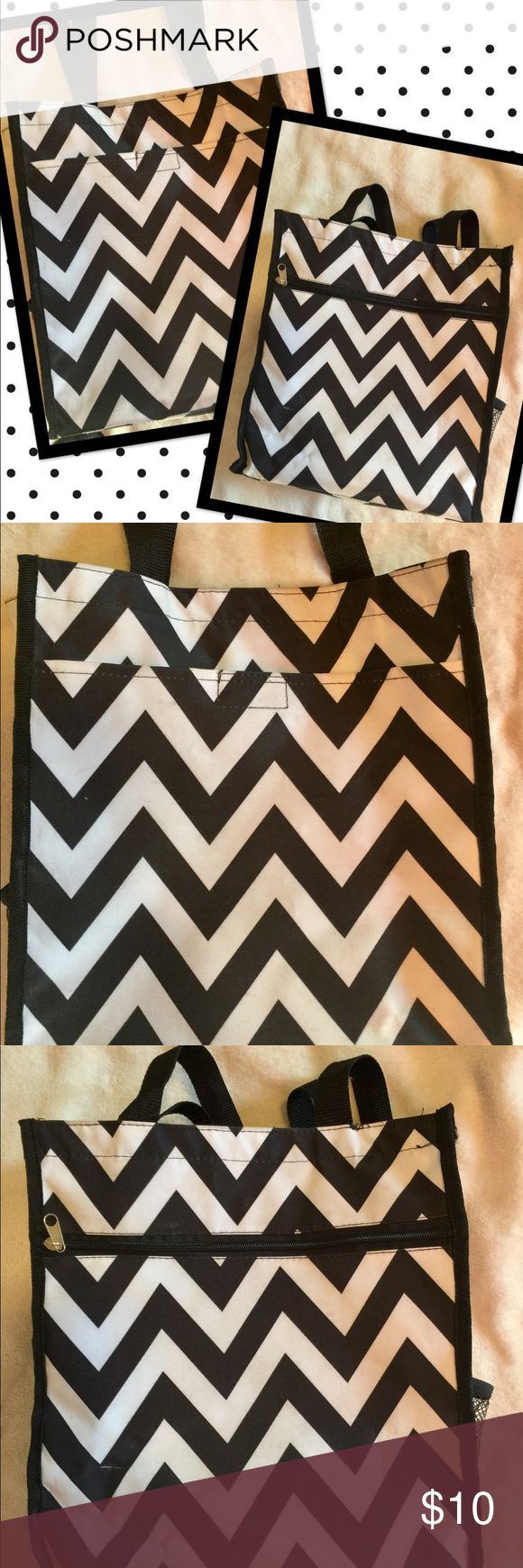 Chevron Bag Well I'm kinda of a bag hoarder!✔️ Measures 11x14x4 in great condition. ⚫️⚪️ Carried maybe twice! ➰➰ none Bags