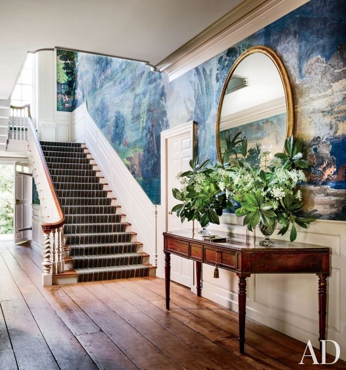 Best Foyer Wallpaper : Best images about hallways and staircases on pinterest