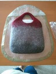 Image result for wet felted bags