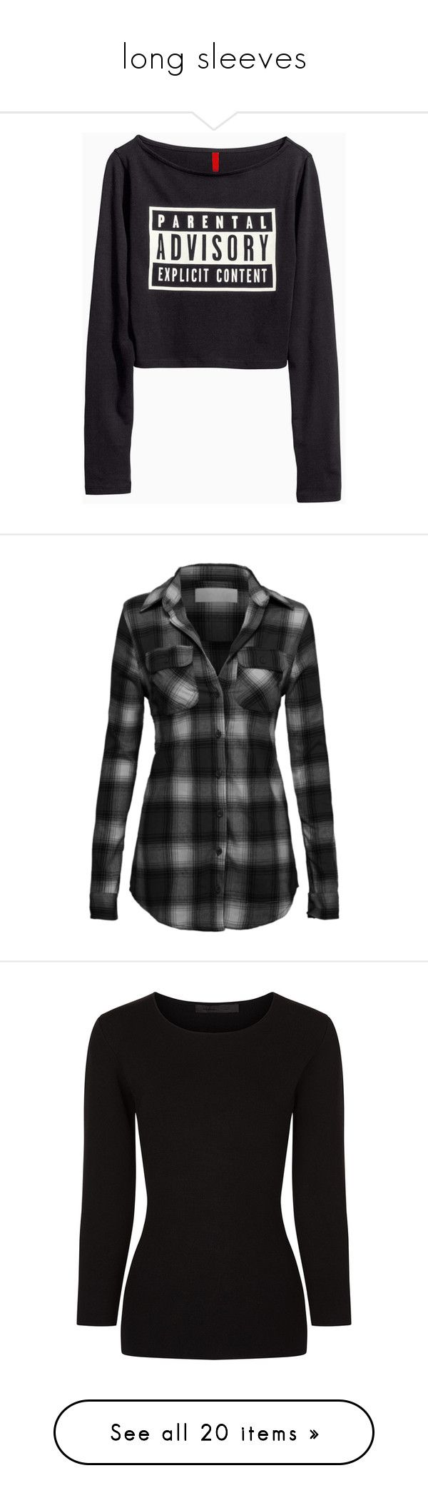 """""""long sleeves"""" by meganekomusic ❤ liked on Polyvore featuring tops, t-shirts, shirts, sweaters, crop top, long-sleeve crop tops, t shirts, cut-out crop tops, long sleeve shirts and long sleeve crop top"""
