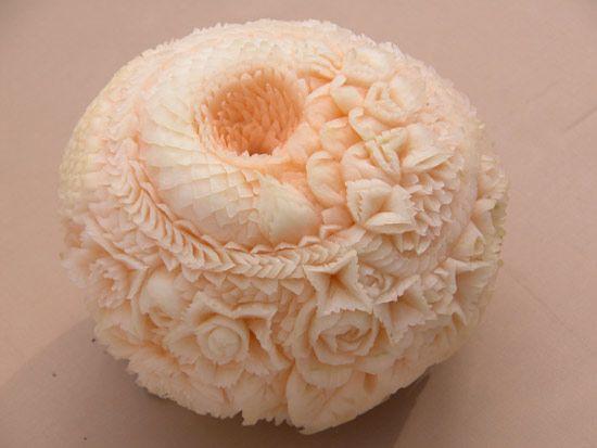 Thai Melon carving