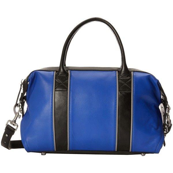 L.A.M.B. Gigi 2 (Cobalt) Handbags ($300) ❤ liked on Polyvore featuring bags, handbags, shoulder bags, blue, leather shoulder bag, shoulder strap handbags, handbag purse, leather hand bags and leather purses