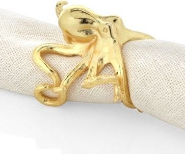 Octopus Napkin Ring - Set of 4 beach-style-napkin-rings