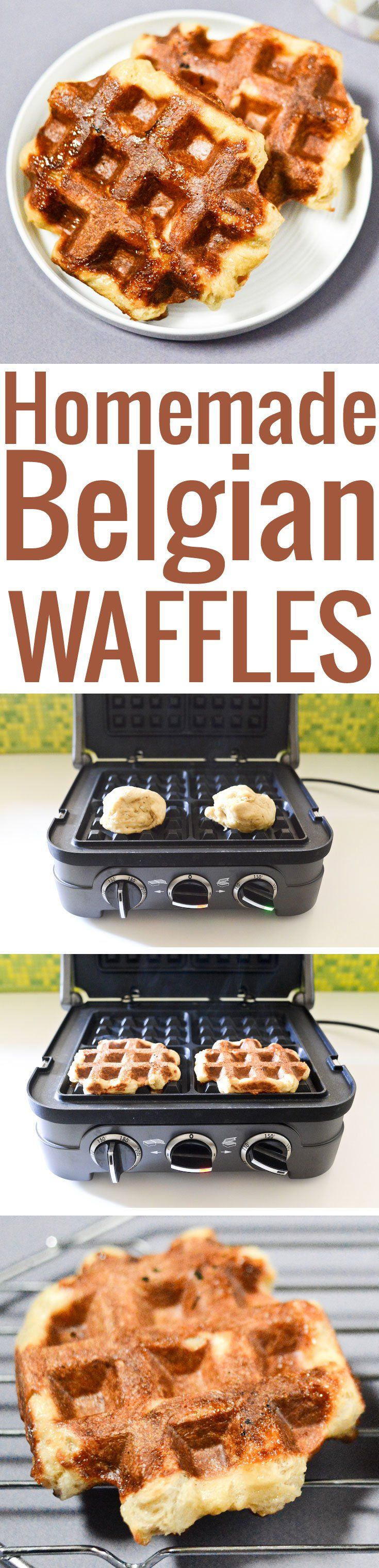 An easy recipe to make Belgian waffles in the artisanal style of Liège: caramelized, chewy, irresistible!