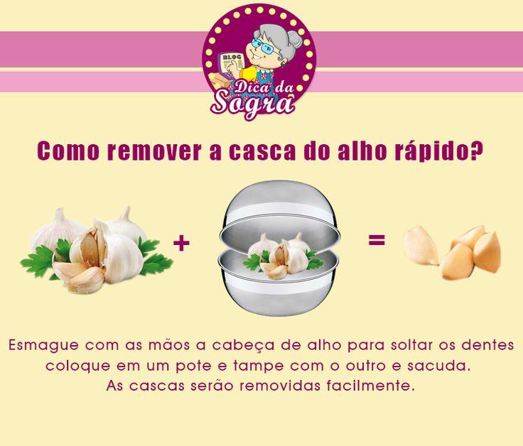 Aprenda como REMOVER A CASCA DO ALHO rapidamente! Veja mais em nosso blog: http://dicasdacasa.com/dicas-na-cozinha/