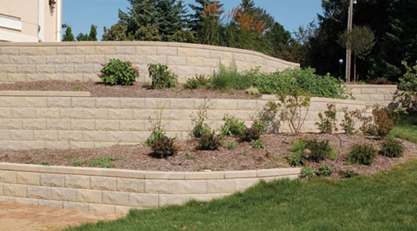Landscaping Rocks Eau Claire Wi : Keystone blocks for terraced retaining wall home outdoor living