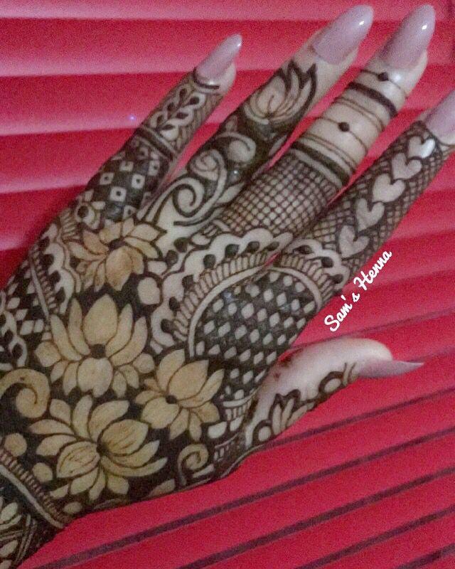 Lotus henna tattoo