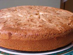Biszkoptowe ciasto z rabarbarem